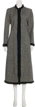 Alexander McQueen Virgin Wool Fur-Trimmed Coat