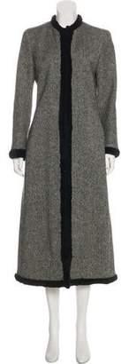 Alexander McQueen Virgin Wool Fur-Trimmed Coat