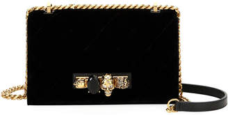 Alexander McQueen Jeweled Velvet Satchel Bag