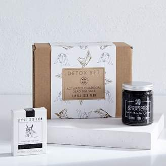 west elm Little Seed Farm Activated Charcoal Gift Set