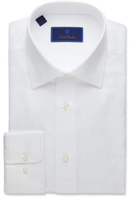 David Donahue Men's Regular-Fit Royal Oxford Dress Shirt, White
