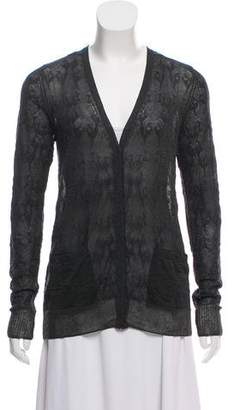Pas De Calais Lightweight Textured Knit Cardigan