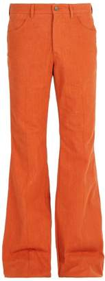 Gucci Cotton Denim Flared Trousers - Mens - Orange