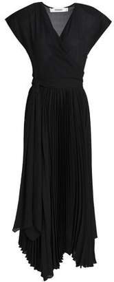 Chalayan Wrap-effect Pleated Chiffon Midi Dress
