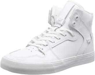 Supra Vaider Skate Shoe, White/Black, 8.5 Regular US