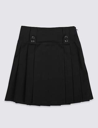 Marks and Spencer Girls' Slim Fit Pleated Skirt