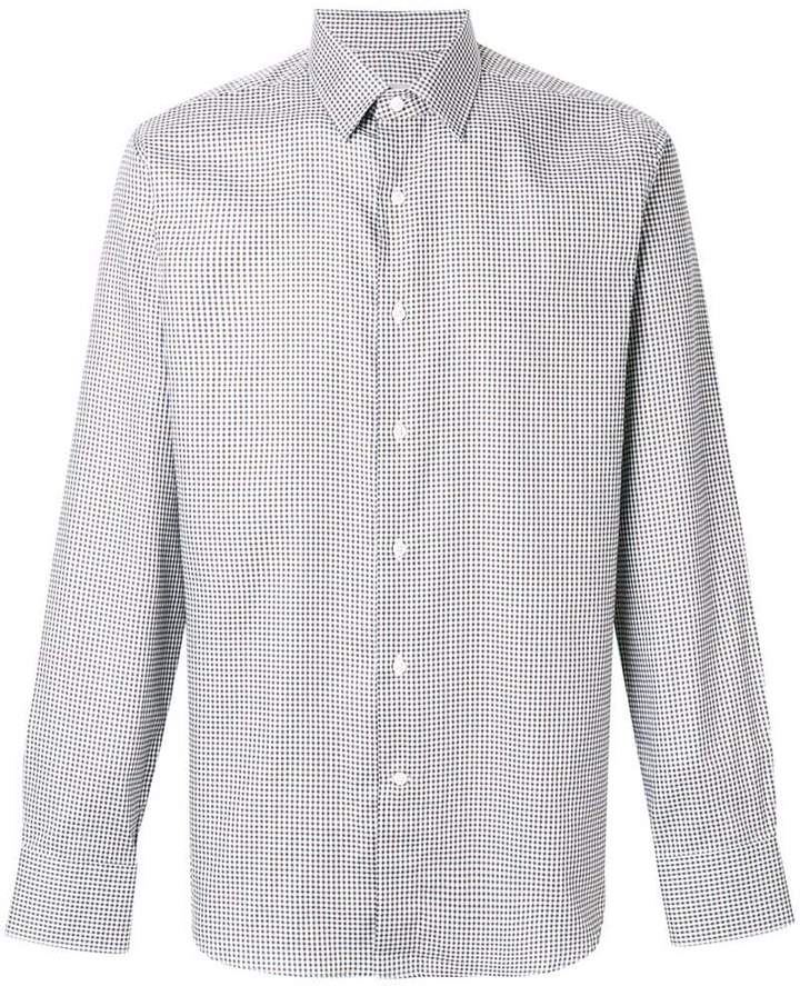 Canali checked shirt