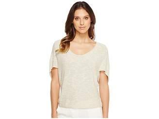 Nic+Zoe Light Flutter Top Women's Clothing