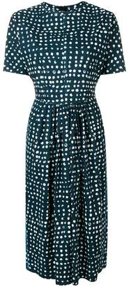 Marni printed fit-and-flare midi dress