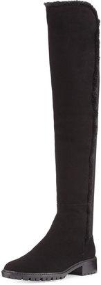Stuart Weitzman Parka Suede Over-The-Knee Boot, Black $525 thestylecure.com