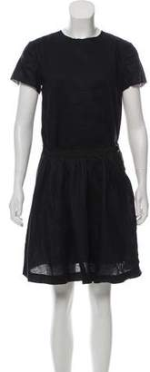 Band Of Outsiders Linen Mini Short Sleeve Dress