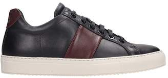 National Standard Black Leather Sneakers