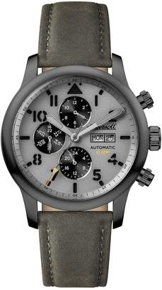 Ingersoll WATCHES Hatton Automatic Multifunction Leather Strap Watch, 47mm