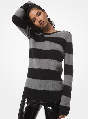MICHAEL Michael Kors Striped Alpaca Wool-Blend Sweater