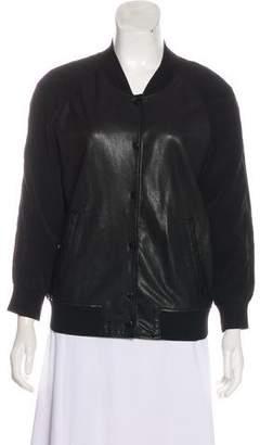 AllSaints Leather Long Sleeve Jacket