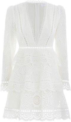 Zimmermann Bayou Tiered Swirl Short Dress