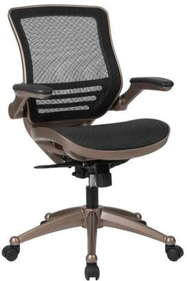 Mignone Ebern Designs Mid-Back Transparent Swivel Mesh Office Chair