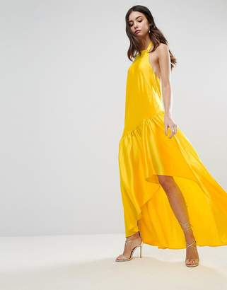 ASOS Halter Hanky Hem Maxi Dress $87 thestylecure.com