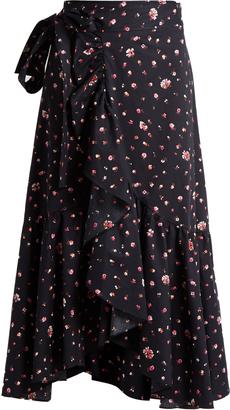 REBECCA TAYLOR Mia floral-print cotton wrap skirt $364 thestylecure.com