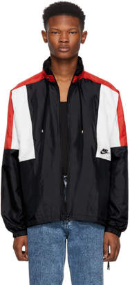 Nike Black and Red NSW Re-Issue Jacket