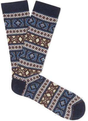 Anonymous Ism Jacquard-Knit Socks