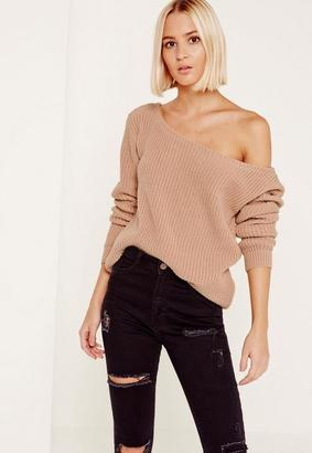 Pink Ophelita Off Shoulder Knit Sweater $27 thestylecure.com