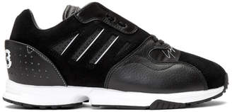 Y-3 Y 3 Black and White ZX Run Sneakers