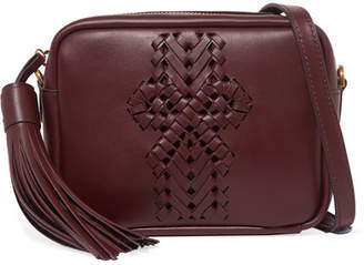 Anya Hindmarch The Neeson Leather Shoulder Bag - Burgundy