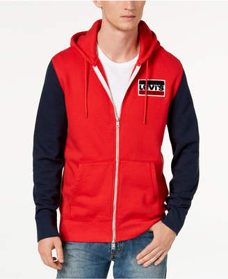 Levi's Limited: Old School Men's Colorblocked Full Zip Fleece Hoodie, Created for Macy's