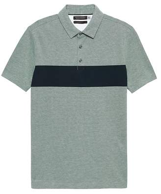 Banana Republic Don't-Sweat-It Chest-Stripe Polo