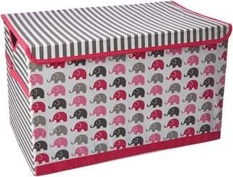 Bacati Elephants Storage Tote Toy Chest