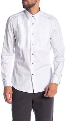 Paisley & Gray White Sateen Tux Slim Fit Shirt