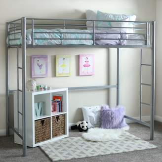 Walker Edison Twin Metal Loft Bed - Black (Multiple Colors Available)
