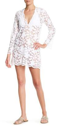 J Valdi Floral Lace Cover-Up