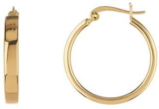 Argentovivo 18K Gold Plated Sterling Silver Square Hoop Earrings