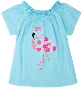 Design History Girls' Sequin Flamingo Top