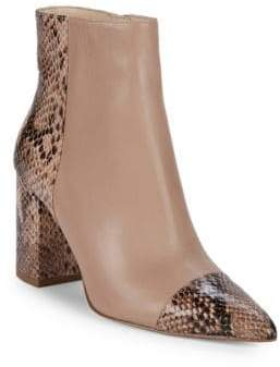 Nine West Ranfield Snake-Embossed Boots