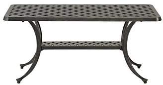 Walker Edison Cast Aluminum Wicker Style Patio Coffee Table