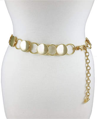 Fashion Focus Accessories Modern Disc Circle Chain Belt