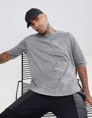 Mennace oversized t-shirt in gray