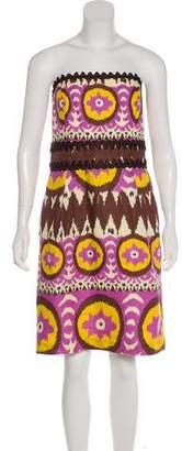 Milly Linen Strapless Dress