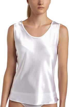 Cinema Etoile Women's Satin Charmeuse Tailored Tanktop camisole