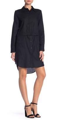 Milly Fractured Button Waist Shirt Dress