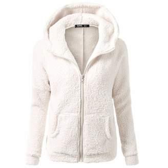 Liraly Womens Coats,Clearance Sale! 2018 Fashion Women Hooded Sweater Coat Winter Warm Wool Zipper Coat Cotton Coat Outwear