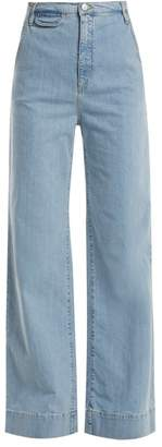 Katharine Hamnett Anita High Rise Wide Leg Jeans - Womens - Light Blue