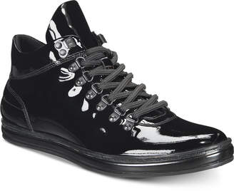 Kenneth Cole Reaction Kenneth Cole New York Men's Brand Tour Patent Leather Sneakers Men's Shoes