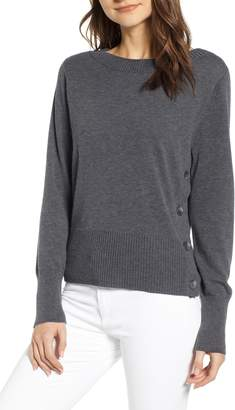 Chelsea28 Button Detail Pullover