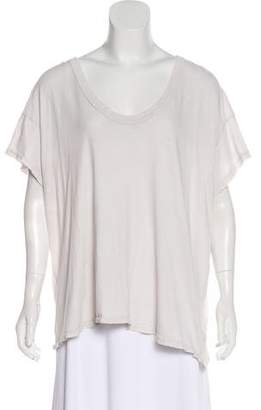 The Great Distressed Short Sleeve Top