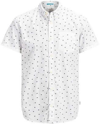 Jack and Jones Cambridge Short-Sleeve Cotton Sport Shirt
