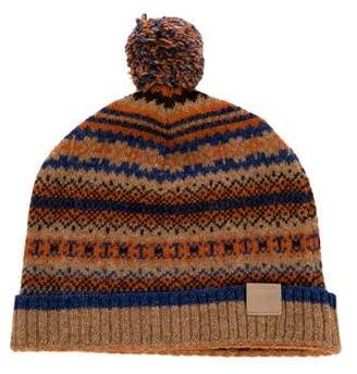 White Mountaineering Wool Intarsia Pom Beanie